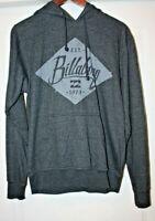 Billabong Men's Vintage Long Sleeve Pullover Hoodie, Black Heather