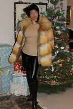 Neiman Marcus medium fox fur brown coat FREE SHIPPING