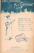 Les saisons du coeur mélodie de Paul Gennac partition pour chant 1910