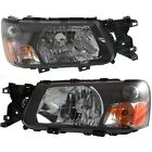 Headlight Set For 2005 Subaru Forester Left and Right With Bulb 2Pc