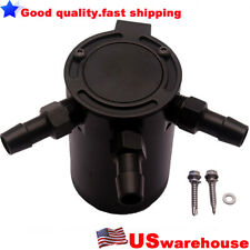 USA Universal Racing Baffled 3-Port Oil Catch Can / Tank / Air-Oil Separator BK