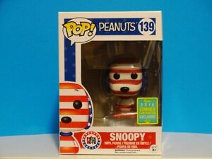 Funko Pop Snoopy Rock The Vote # 139 Peanuts SDCC Exclusive 2016 +P/Prot
