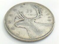 1949 Canada Twenty Five 25 Cent Quarter Canadian Circulated George VI Coin J787