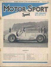 Motor Sport 9/1943 MG Magnette, Austin 7, Bugatti Brescia & Type 40, Riley +