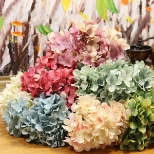 Artificial Hydrangea Flowers Silk Garland Plant Fake Home Wedding Decoration AU