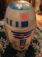 -83 ORIGINAL STAR WARS R2-D2 TOY  CHEST TOTER W/LOOSE FIGURES