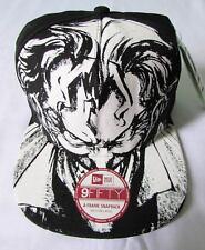 NEW ERA CAP HAT 9FIFTY THE JOKER FACE BATMAN DC COMICS BLACK INTERCHANGEABLE