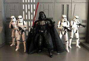"Star Wars Darth Vader and Customs Stormtrooper 3.75"" Army Builder Lot"