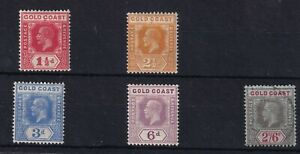 GOLD COAST 1921 KGV small seln. to 2s 6d mint/used cv £50+  1559