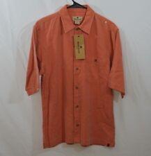 Woolrich Men's Exposure Short Sleeve Full Button Shirt (size S) Orange NEW  (20)