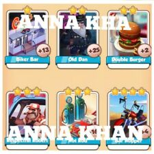 Coin Master Cards Route 66 Full Set 6 Cards Fast Delivery