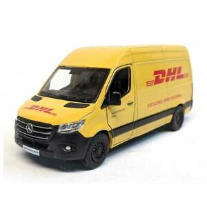 "5"" Die-cast: DHL Mercedes Benz Sprinter Delivery Van 1/48 Scale"