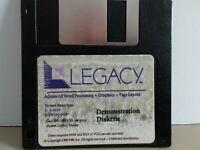 "ITHistory (1990) IBM Software: LEGACY Word Processing Demo (NBI)  3.5"" No Manual"