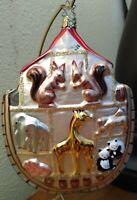 "1997 Vintage Rare OWC Old World Christmas Ornament ""Noah's Ark"". Original Box."
