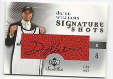 Deron Williams 2005-06 Sweet Shot UD Upper Deck Authentic Rookie AUTO  #SS-DW