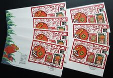 Singapore 1996 Rat Year MS China '96 Stamp Exhibition Souvenir Covers FDC