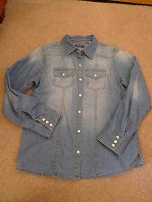Girls Blue Denim Shirt, Next. Size 11yrs