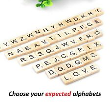 Wooden SCRABBLE tiles wholesale individual LETTERS  numbers crafts alphabet wood
