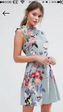 Oasis Floral Dress Size 16 With belt