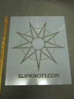 SLIPKNOT 2014 ROADRUNNER RECORDS promotional BIG stencil Flawless New Old Stock
