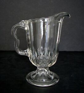"""EAPG Central Glass Company #610 Thumbprint Band Creamer /Milk Pitcher 6 1/4"""""""