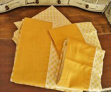 Vintage Monticello Yellow Gingham Full/Double Sheet Set