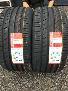 NEW 2 X 275 40 ZR19 101Y M+S THREE A ECOWINGED NEW TYRES AMAZING WET GRIP B NEW