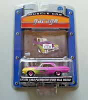 Greenlight Muscle Car Garage Custom 1964 Plymouth Fury Max Wedge NIP Pink Flames
