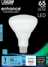 Feit LED Dimmable BR30 Flood Daylight Bulbs 65 Watts, Uses 7.2 Watts, 1 Bulb NEW