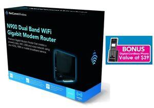 Netcomm NF3ADV N900 Dual Band WiFi Gigabit Modem Router + Bonus Cordless Phone