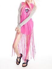 Wildfox Couture Third Eye Gypsy Fringe Trim Tank $92 Size L