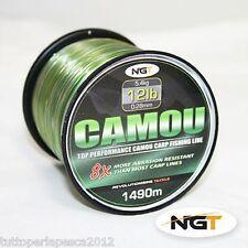A0532 NGT CAMOU FISHING LINE 0,28 MM 12LB 1490MT FILO CARPFISHING MIMETICO CARP