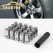 20 Chrome 1/2-20 Spline Tuner Lug Nuts + Key for Ford Lincoln Mazda Dodge Suzuki