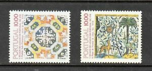 Portugal Stamps 1982 Tiles , 17th Century Complete as issued MNH
