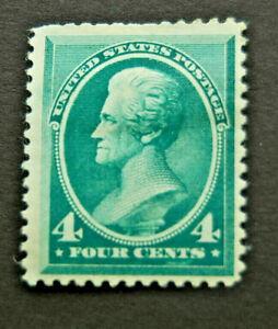 US Scott 211 1883 Jackson 4 Cent Blue Green MH