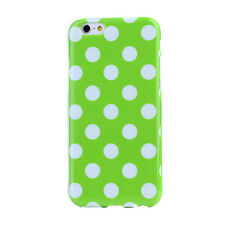 Polka Dot Spotted Soft TPU Case Cover for Apple iPhones & Samsung Galaxy