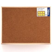 Wooden Frame Cork Board Reinforced Notice Corkboard Memo Message Push Pin Office