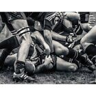 Photo Sport Rugby Football Close Up Scrum Players Ball Game 12X16 Framed Print