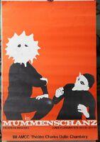 Affiche Originale ✤ les MUMMENSCHANZ / Théâtre de Masques ✤ Chambéry ✤ 1978
