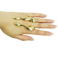 Women's Stainless Steel Gold Snake Charm Fashion Finger Ring Jewelry