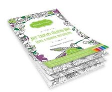 """Adult and Teen Coloring Book 6.25"""" x 9"""" Bird Sanctuary and Flowers Themed Pad"""