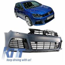 VW GOLF 6 VI FRONT R-LINE R 20 STYLE SPORT BUMPER MK6 BODY KIT ABS PLASTIC+DRL