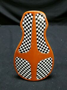 Uni Mini seat bmx micro nano racing USA 22.2mm post dark orange w checker pad