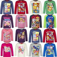 Boys Girls Kids Nickelodeon Paw Patrol Long sleeve T-Shirt Top age 2-8