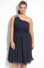 NEW JS Boutique 'One Shoulder' Chiffon Dress (plus) Size 18W Blue $178