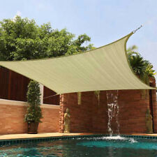 Sun Shade 12X12 Square Top Sail Beige Tan Sand for Deck Patio Cover New Backyard