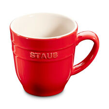Staub CERAMICA 4 Set tazza di caffè CACAO tè grande rosso ciliegia 0,35