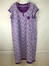 Carole Hochman Heavenly Soft Purple Print Nightgown Plus Size 3X NEW
