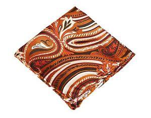 Lord R Colton Masterworks Pocket Square - Lake Toya Copper Silk - $75 New