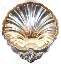 Wallace #278 Medium Plated Shell Bon Bon Bowl in the Baroque Pattern